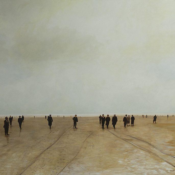 La gran bajante 1 - Óleo sobre tela, 180 x 250cm, 2013-14