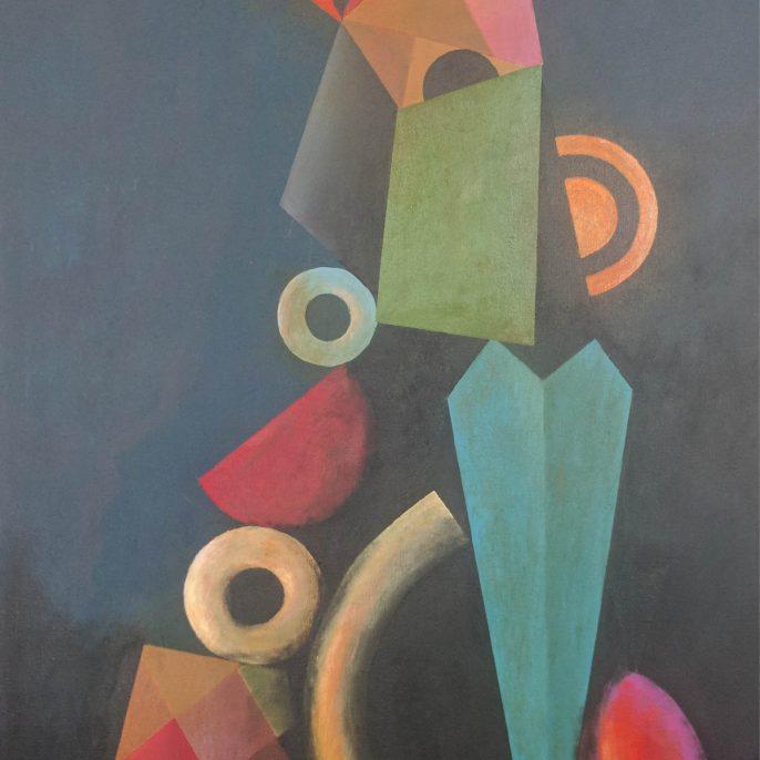 Jorge Diciervo - Dos Verdes - 090x050 - 2015 - Acrilico s tela - v2-01